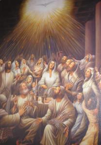 """""""Apostoli u vrijeme lsusova zemaljskog života još ne poznaju iskustvo međusobne povezanosti. Upravo je u tome izuzetno iskustvo Duhova. Na dan Pedesetnice, kada je lsus održao svoje obećanje da će im poslati Duha Svetoga, apostoli su osjetili nešto neizrecivo na tom planu njihovih odnosa Oni se otada osjećaju zajednicom. To je došlo iznenada. Odjednom se u njihovim riječima i nastupima primjećuje onaj unutarnji osjećaj zajedništva sto će se razotkriti u načinu govora. U njihovim riječima dolazi na površinu subjekt """"mi"""". To oni prije nisu nikada osjetili""""…"""